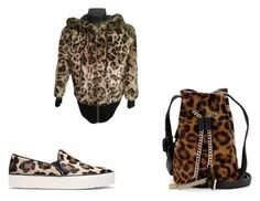 Leopard Print by terrqi on Polyvore featuring moda, Juicy Couture, Stuart Weitzman and Halston Heritage