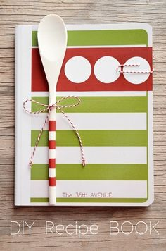 DIY Recipe Book. This one is for Christmas and could be used as your own or as a gift. Could also find some similar colors patterns to be used for basic recipes that you find!
