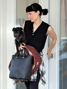 I love her. And her adorable little dog, too.