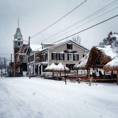 Winter street scene at Put-in-Bay, Ohio 2013. Photo via Miller Boat Line Instagram.