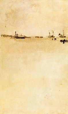 "artist-whistler: "" Beach Scene via James McNeill Whistler Size: cm Medium: watercolor"" James Abbott Mcneill Whistler, Watercolor Landscape, Watercolor And Ink, Landscape Art, Irish Landscape, Cannes Film Festival, Gravure Photo, New Wave, Art For Art Sake"