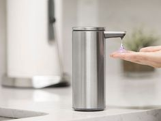 Ceramic Soap Dispenser is Good For Bathroom Sanitation - Realty Times Modern Bathroom Accessories, Automatic Soap Dispenser, Soap Scum, Soap Dispensers, Drip Tray, Liquid Soap, Teeth Cleaning, Brushed Stainless Steel, Kitchen And Bath
