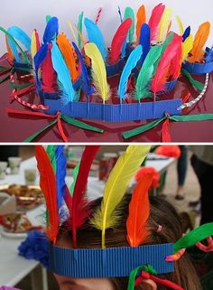 Indianer / Indio / Indian Diy Crafts For Home diy crafts for home india Indian Diy, Indian Crafts, Indian Party, Diy Home Crafts, Easy Crafts, Crafts For Kids, Arts And Crafts, Crafts For Teens To Make, Diy For Teens