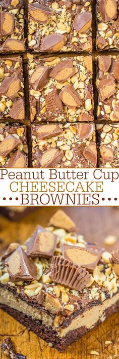 Peanut Butter Cup Cheesecake Brownies (Averie Cooks)