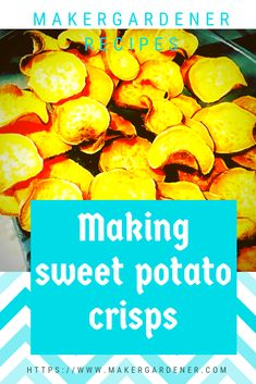 This is a recipe on how to make healthy oven baked oil free sweet potato crisps #sweetpotatocrisp