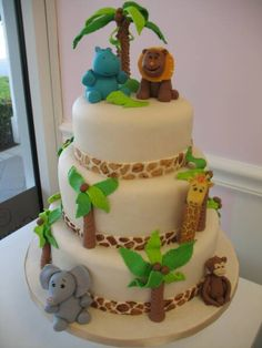 jungle cakes baby shower | Baby Shower