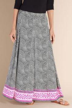 Mosaic Skirt I - Crepe Print Skirt, Lady Skirt, Skirts   Soft Surroundings