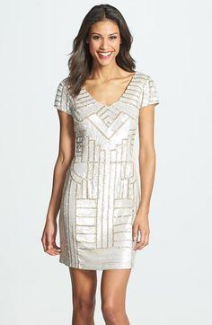 Adrianna Papell Sequin Sheath Dress  978858f22