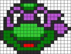 Donatello Ninja Turtle Perler Bead Pattern / Bead Sprite