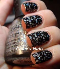 Base Colour: Nubar in Star Sparkle (3 coats), Plate: Mash plate M60, Stamp Colour: Wet n' Wild in Black