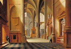 Bartholomeus van Bassen (The Hague ca. 1590 – 1652 )-Interior of a Church