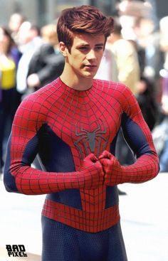 grant gustin- not actually spidey but would make a perfect spider-man