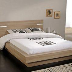 Lit Osaka Cadre De Lit Avec Leds Panneaux De Particules Aspect Bruges Tempat Tidur Tidur Minimalis