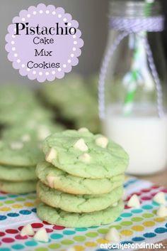 Pistachio Cake Mix Cookies Oh Yeah!!!!