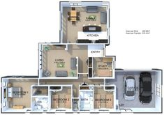 View the Birchwood 4 Bedroom House Plan from Generation Homes. Galley Style Kitchen, Family Kitchen, 4 Bedroom House Plans, Walk In Wardrobe, Double Garage, Bedroom With Ensuite, Comfort Style, Ticks, Separate