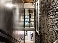 Clan Upstairs Via Pontaccio #Milano by #HILITENext #commercial #lighting #design #fixtures #viabizzuno #droid binario Lighting Design, Light Fixtures, Retail, Projects, Light Design, Log Projects, Blue Prints, Light Fixture, Sleeve