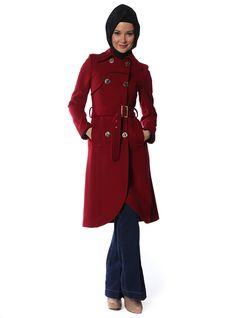 ba81b3ec303 Robadan Parçalı Kaşe Kaban - 3855-33 - Olcay Winter Coats