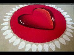 Indian Rangoli Designs, Rangoli Designs Latest, Colorful Rangoli Designs, Kolam Designs, 3d Rangoli, Diwali Special Rangoli Design, Poster Rangoli, Heart Shapes, 3 D