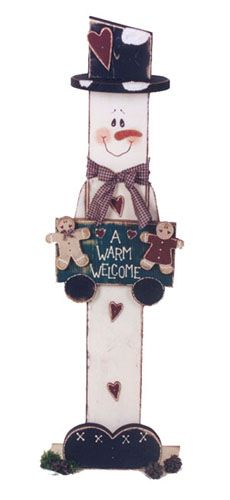Harvey Snowman Entry Greeter, Snowmen & Frosty Friends Crafts