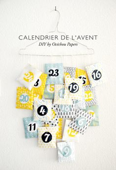 tuto calendrier de l 39 avent 2014 inspiration calendrier et patron couture. Black Bedroom Furniture Sets. Home Design Ideas