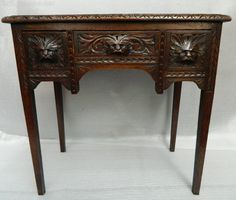 Exceptionnel Carved Oak Green Man Table   Antiques Atlas
