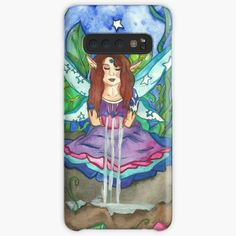 Niina Niskanen is an independent artist creating amazing designs for great products such as t-shirts, stickers, posters, and phone cases. Fairy Paintings, Green Paintings, Fantasy Paintings, Fantasy Art, Summer Tunes, Male Fairy, Fairy Queen, Green Art, Fairy Art