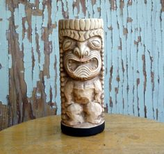 Here is a vintage Hawaii Kai Tiki Mug. Probably from the early 70s or late 60s. He stands 6.5 tall, and has no chips or cracks.