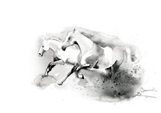 Printable wall art Horses/ watercolor/ by WatercolorprintByOli