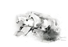 Printable wall art Horses/ watercolor/ by WatercolorprintByOli