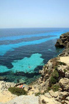 Cala blue, favignana island, sicily