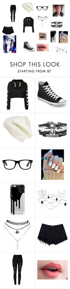 """""""meating Cody Carson"""" by miss-mysterius ❤ liked on Polyvore featuring Topshop, Converse, King & Fifth Supply Co., Hot Topic, Casetify and Wet Seal"""