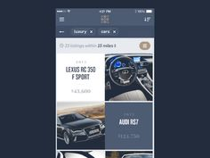 iPhone App for a luxury marketplace by Mason Yarnell