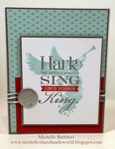 Angel Christmas Card using CTMH Sing Glory Hostess Set and Snowhaven Paper. Sketch is FMS162