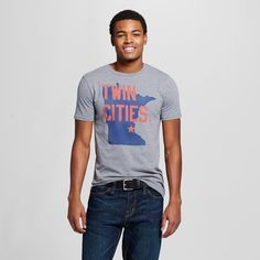 Minnesota Local Pride by Todd Snyder Men's Twin Cities Minnesota Tee - Gray