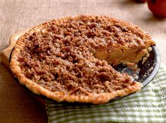 The buttery crust, cinnamon-flavored apples, and crisp streusel topping make it an all-time favorite dessert!