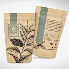 Check out this Elegant, Playful, Consumer Packaging Design f Spices Packaging, Organic Packaging, Food Packaging Design, Coffee Packaging, Coffee Branding, Brand Packaging, Tee Design, Label Design, Package Design