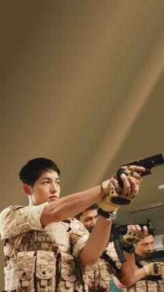 Descendants of the Sun - Lockscreens batch 4 Song Joong Ki Dots, Most Handsome Korean Actors, Soon Joong Ki, Decendants Of The Sun, Sun Song, Songsong Couple, Drama Memes, Korean People, Kdrama Actors