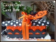 Candy Corn Cake Slices