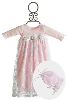 Katie Rose Newborn Take Home Gown for Girls Pink Leila Going Home Outfit, Take Home Outfit, My Baby Girl, Pink Girl, Baby Baby, Divas, Newborn Girl Outfits, Baby Outfits, Baby Sewing Projects