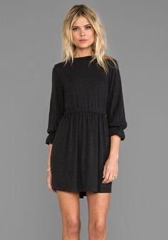 ANINE BING High Collar Dress in Charcoal - ANINE BING
