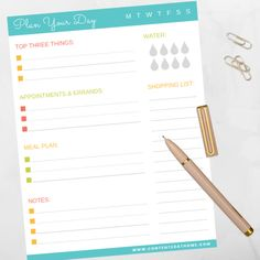 FREE daily planner printable to help you manage your busy life! List your top three tasks, appointments, meal plan, shopping list, and more - all in one place. Daily Planner Printable, Free Planner, Parental Control Apps, Kids Part, Life List, Planning Your Day, Busy Life, Planner Organization, Valentines For Kids