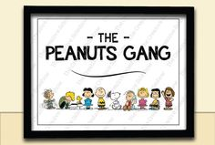 Customized/Personalized Peanuts Gang, Snoopy, Charlie Brown, Themed - Poster Print 8.5x11 - Baby Child Kid Nursery Room Decoration Party on Etsy, $18.10 CAD