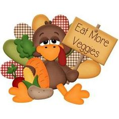 Silhouette Design Store Eat More Veggies Turkey