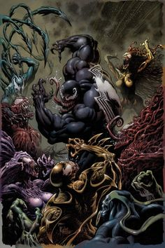 Marvel Comics arrives in August, as Absolute Carnage begins, Hickman's X-Men saga continues and the Spider-Man get a new adventure. Spiderman Venom, Comics Spiderman, Venom Comics, Marvel Venom, Marvel Villains, Marvel Comics Art, Marvel Comic Books, Marvel Characters, Marvel Heroes