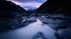Tasman River by Simon Roppel on River, Landscape, Nature, Outdoor, Outdoors, Naturaleza, Scenery, Landscape Paintings, Nature Illustration