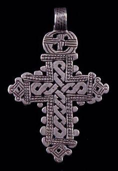 Ethiopia | Pendant cross; silver | 20th century
