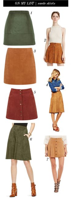 on my list | suede skirts