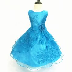 Flower-Girls-Kids-Wedding-Formal-Bridesmaid-Party-Ball-Gown-Prom-Princess-Dress