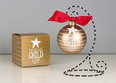 For Unto Us A Child Is Born Isaiah 9:6 Ornament | underthecarolinamoon.com #cotoncolor #cotoncolorschristmas #cotoncolorsornaments #utcm #underthecarolinamoon #christmasornament #achildisborn