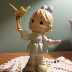 Precious Moments Girl with Tinkerbell
